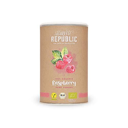HARVEST REPUBLIC Bio-owocowy proszek malinowy, 125 g, do koktajli superfood i shake