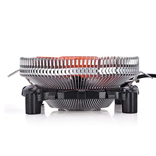 Raguso Mini Enfriador de enfriamiento de CPU de Larga duración Big Fins Ultra silencioso para computadoras de Escritorio Intel AMD