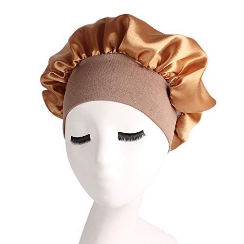 MoonyLI Satin Bonnet -Hat Sleep Cap Head Sleeping Head Convient aux Femmes et aux Filles