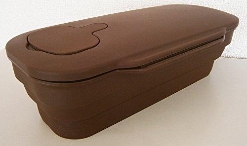 旭金属シリコンスチーマー電子レンジオーブンパスタスチームプレート付きオーブン食洗器可コンパクト収納メトレフランセブラウン815-BR