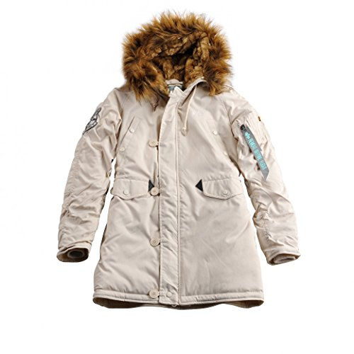 ALPHA INDUSTRIES Damen Explorer Wmn Parkas, Weiß (Off White 16), Large