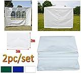 DayPlus Gartenpavillon Seitenteile 2 Stück, 3m x 2m Pavillon Seitenwand - 1 Stück mit Fenster, 1...