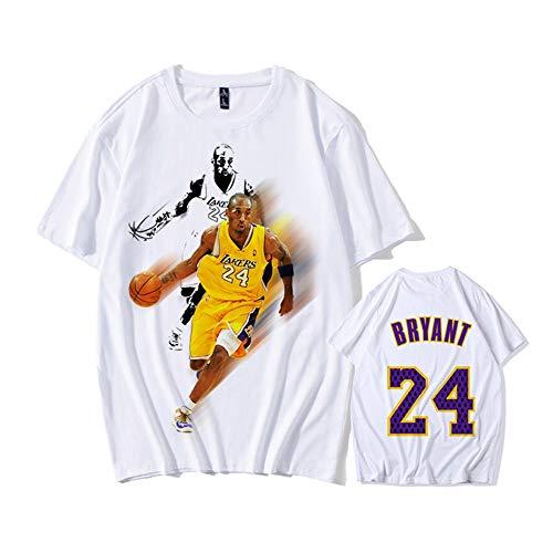 24 Los Angeles Lakers Camisetas de Verano Uniforme de Baloncesto Bordado Tops Camisetas de Traje de Baloncesto Oro Negro Jersey DCE Jersey de Hombre Kobe Bryant NO