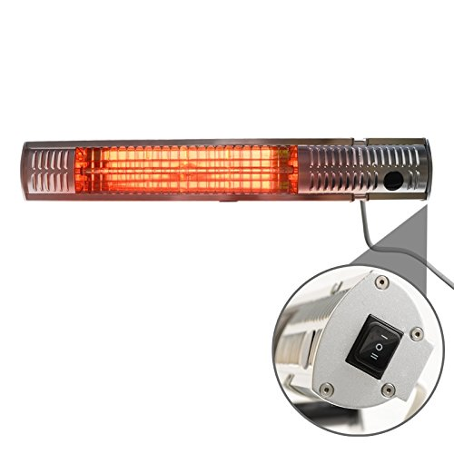 Gardigo Edelstahl Infrarot Heizstrahler | Goldröhre – weniger Stromverbrauch | Wärmt gezielt Menschen | Infrarotstrahler | 4-Stufen | Außenbereich - 9