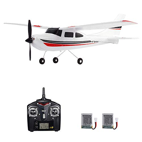 GoolRC WLtoys F949S RC Airplane, 2.4Ghz 3CH RC Plane with Gyroscope, EPP Remote Control Airplane, Easy to Fly RC Aircraft with 2 Batteries for Beginners Kids and Adults
