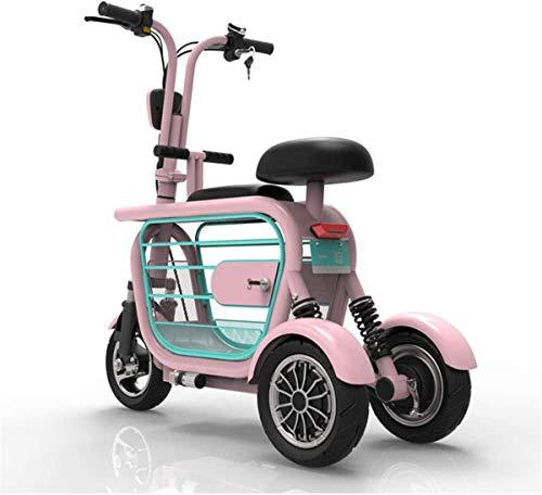 Elektrorollstuhl 3 Wheeled Elektromobilität Roller Elektroroller 400W High Power E-Scooter, leicht faltbare mit Wiederaufladbare Batterie-elektrisches Fahrrad mit Display Bequemes und sicheres Reisen
