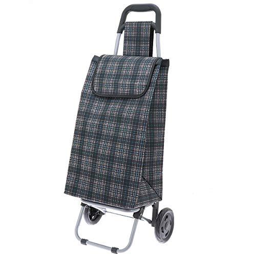 Secc Einkaufstrolley Einkaufsroller Einkaufskorb mit Rollen Shooping Trolley Lhassa 730.076, Farbe:Dunkelgrau