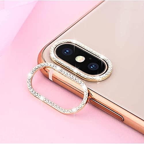 Best Shopper - Glitter Rhinestone Camera Lens Film Protective Case Lens Protector For Apple iPhone XR - Gold