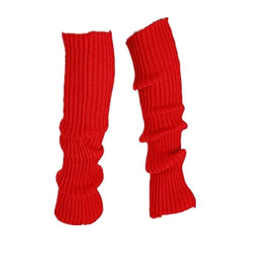 Litale Damen Leg Stockings Stulpen Stricken Warme Strickstrümpfe Gamaschen Beinstulpen Socken Yoga Gestrickte Weihnachtssocken Strumpf Sneakersocken Kniestrümpfe Sportsocken Tanzsocken