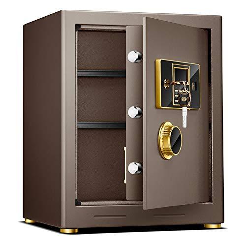 HYYQG Caja Fuerte PequeñA Camuflada, Digital Lock All Steel Jewelry Cash Gun Box Teclado DíGitos Completos AnulacióN Teclas Oficina Hogar Hotel Pared 50 Cm, Brown