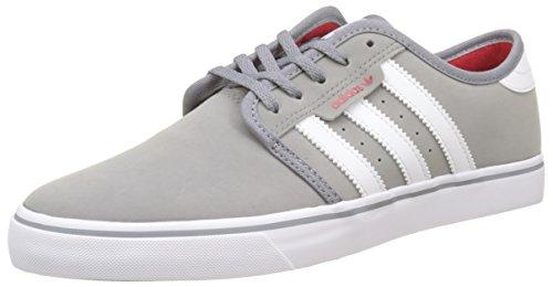 adidas adidas Unisex-Erwachsene Seeley Sneakers, Grau (Grey/Footwear White/Scarlet), 43 1/3 EU