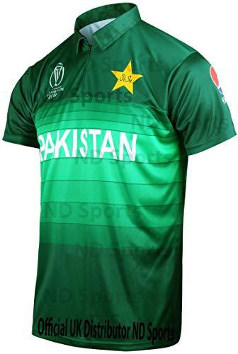 AJ Sports 2019 ICC Offizielles Pakistan ODI Cricket World Cup Trikot Limited Edition UK, Mehrfarbig, XL