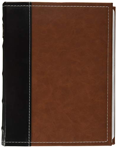 Bellagio-Italia Brown DVD Storage Binder - Stores Up to 48 DVDs, CDs, or Blu-Rays - Stores DVD Cover Art - Acid-Free Sheets