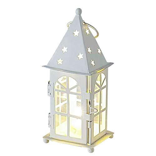 HAIBI kerzenLeuchter,Europäischen Stil Hohle Burg Laterne Kerzenhalter Tisch Dekoration Indoor romantische Hochzeit Winddichte Laterne Kerzenständer