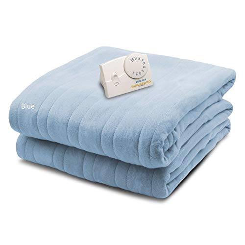 Biddeford Blankets Comfort Knit Heated Blanket, Twin, Cloud Blue