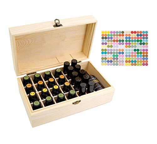 Beunyow 36 Botellas Portátil Almacenamiento de Aceite Esencial de la Caja de Madera para exhibir Aceite, Perfume, Aceite Esencial para Negocios, Adecuado para la Familia y la Aromaterapia
