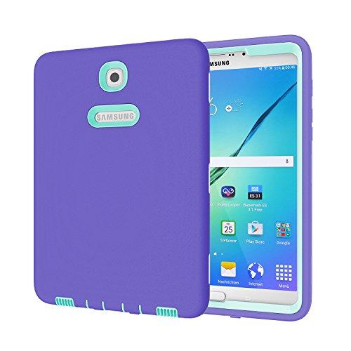 Beimu 3-in-1 Schutzhülle für Samsung Galaxy Tab S2 8.0 SM-T710/SM-T715, Lila + Aqua