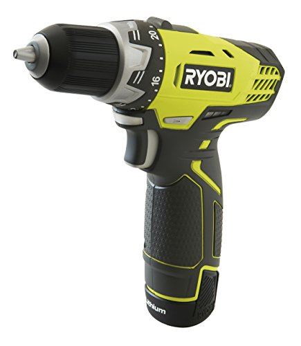 Ryobi 5133001156 Akku-Kompakt-Bohrschrauber Typ RCD12011L, 12 V, Noir, Jaune