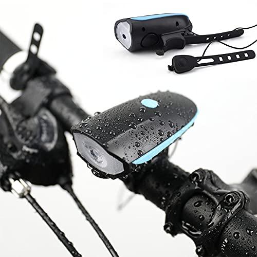 Luz de Bicicleta Recargable por USB, Linterna de Bicicleta a Prueba de...