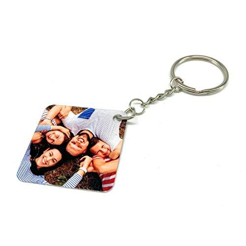 Saphirdesign Schlüsselanhänger aus Metal mit Wunsch-Motiv-Bild-Logo. Geeignet als Werbe-Erinnerungs-Geschenk. Das perfekte individuelle Fotogeschenk....