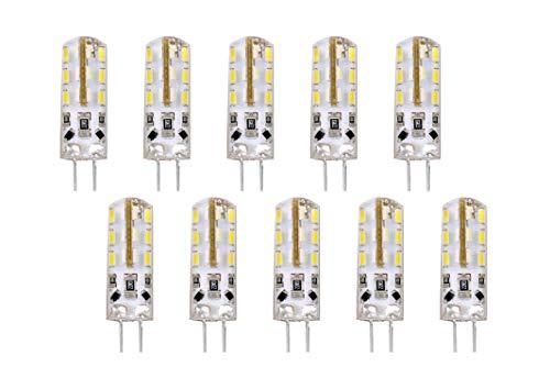 Set di 10 LAMPADINE LED BISPINA G4 - 2W - 170 Lumen - DC12V - misure ø9x35,5mm - luce naturale 4000K° raggio di illuminazione 360° - non dimmerabili
