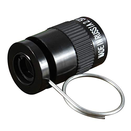 Toyvian 2.5x17.5 Monocular Telescope Mini Miniature Monocular Scope for Bird Watching Hunting Camping Travelling Hiking (Black)