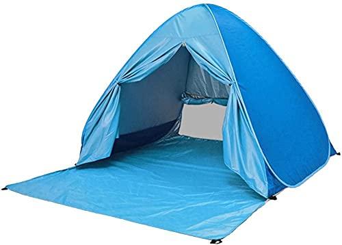 QPP-CL Tienda de Sombra de Playa, Carpa de Protector Solar de configuración automática portátil para Playa al Aire Libre Camping Senderismo Canopy -Sun Tiendas de protección