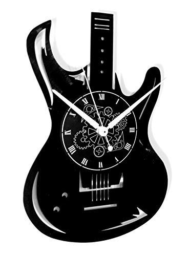 Vinyl Wandklok Vintage Handgemaakte Decor Thuis Kantoor Gitaar Bass Rock Metal Punk Muziek