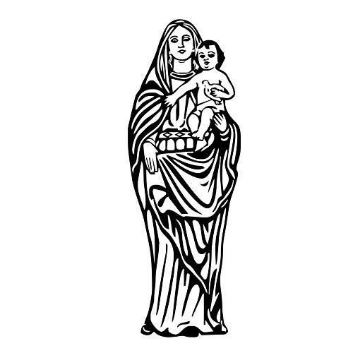 Etiqueta de la pared Nuestra Señora de Guadalupe Virgen María Católica Etiqueta de La Pared Decoración Para El Hogar Arte Mural de Vinilo Removible Decoración Del Hogar 43x122 cm