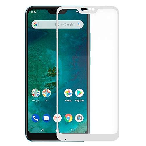 iGlobalmarket Protector Pantalla Cristal Templado, Antiarañazos, Antihuellas, Sin Burbujas, 9H, para Xiaomi Mi A2 Lite   6 Pro (Full 3D Blanco)