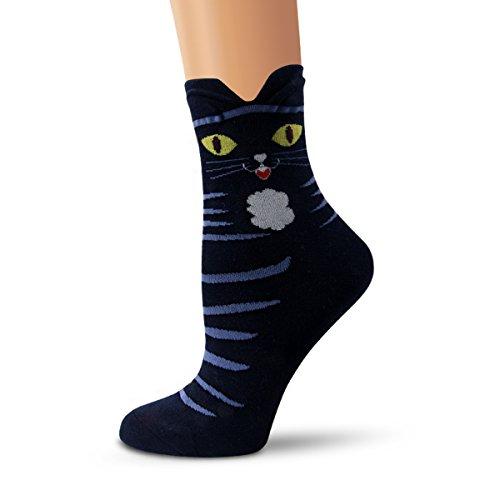 Ambielly Socken aus Baumwolle Thermal Socken Erwachsene Unisex Socken (4 Katzen) - 5
