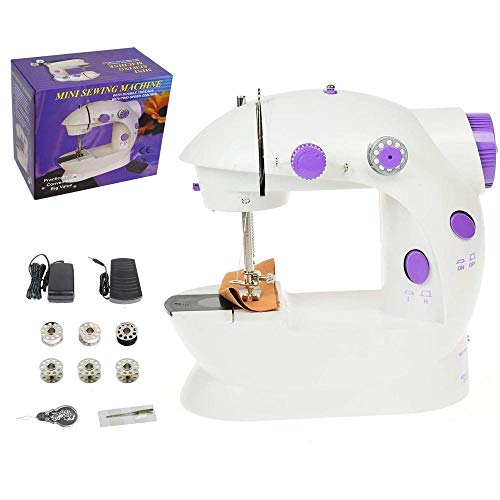 Learn More About Portable Household Sewing Machine Adjustable 2-Speed with Foot Pedal Two Speeds Por...