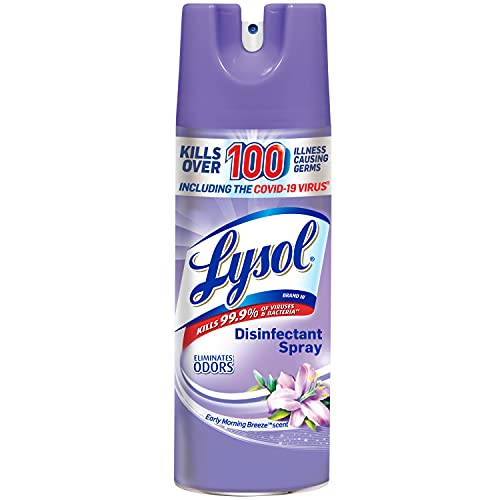 Lysol Disinfectant Spray, Sanitizing and Antibacterial Spray, For Disinfecting and Deodorizing, Early Morning Breeze, 1 Count, 12.5 fl oz each