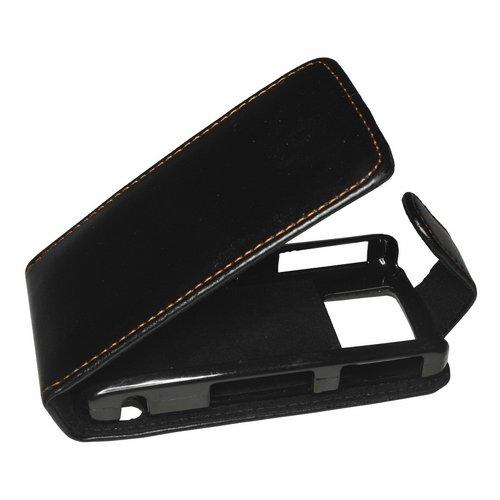 Mobilfunk Krause Flip Hülle Etui Handytasche Tasche Hülle für BlackBerry Pearl 8120 (Schwarz)
