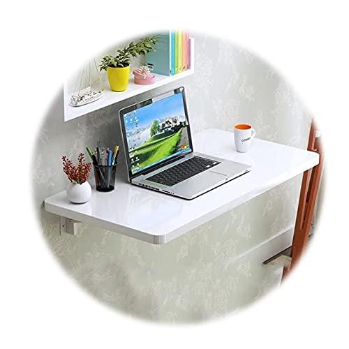 ZWYSL Escritorio Montado En La Pared Mesa Plegable Escritorio Flotante Banco de Trabajo Multifunción, Adición Hogar y La Oficina, 20 Tamaños (Color : White, Size : 100x50cm)