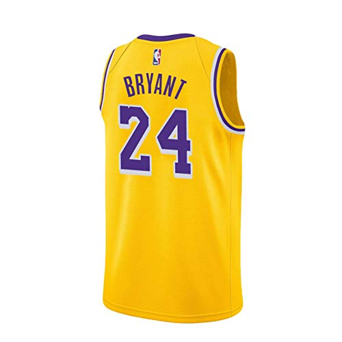 Kobe Yellow Lakers Swingman - Camiseta para hombre, talla L