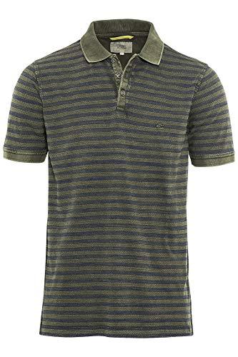 camel active Herren Poloshirt T Shirt mit Kragen H-Polos 1/2 Arm Olive CORE M