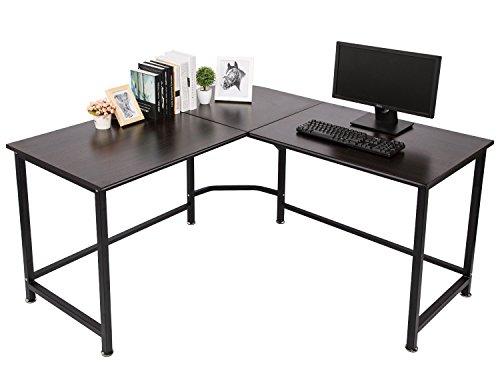 TOPSKY L-Shaped Desk Corner Computer Desk 55' x 55' with 24' Deep Workstation...