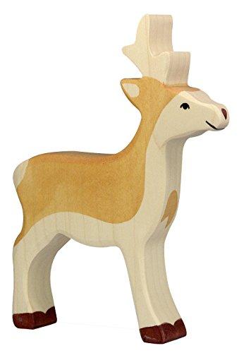 cama24com Rehbock REH Holzfigur Holzspielzeug von Holztiger mit Palandi® Sticker