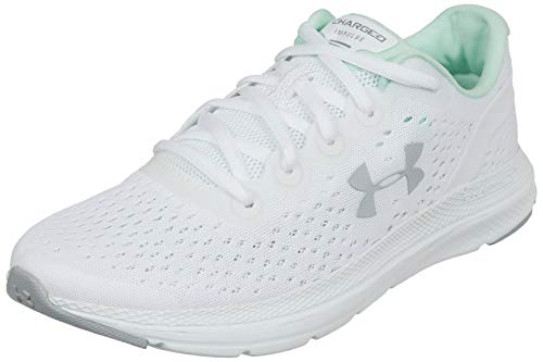Under Armour Women's Charged Impulse Running Shoe,White (103)/Mod Gray, 9