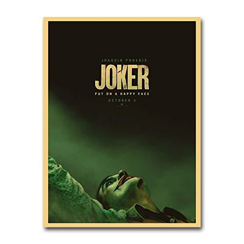 Joker film vintage poster retro muurkunst canvas print kunst afbeelding schilderij woonkamer huis decoratie 50x75cm