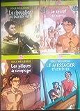 Lot de 4 Odile Weulersse (Le chevalier au bouclier vert,Le secret du papyrus,Les pilleurs de sarcophages,Le messager d'Athènes).