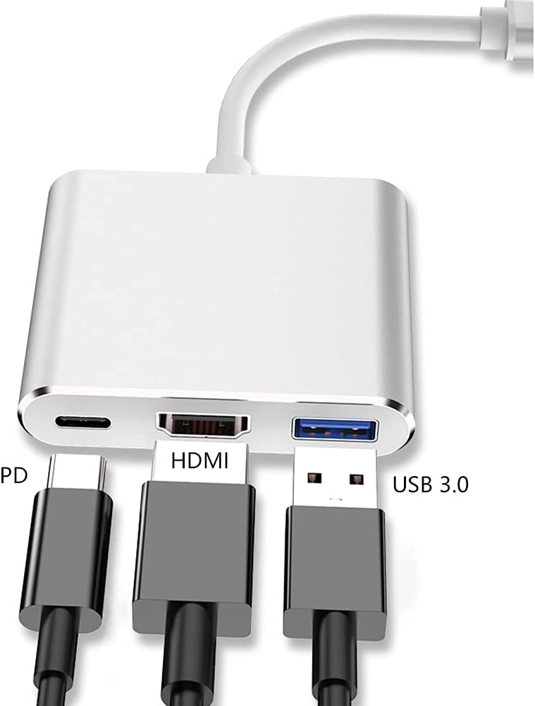 Port Expander USB C Hub for Type C Laptop USB C Docking Station USB C to HDMI Adapter with HDMI, USB 3.0 Port, PD 87W Port USB Splitter (Color : Pink)