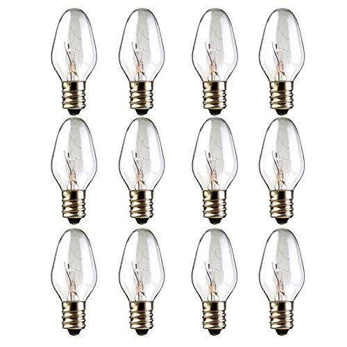 12-Pack, 15 Watt Wax Melt Warmer Light Bulbs for Scentsy Plug-in Nightlight Wax Warmer and Candle Warmers,15 watt Scentsy Bulbs