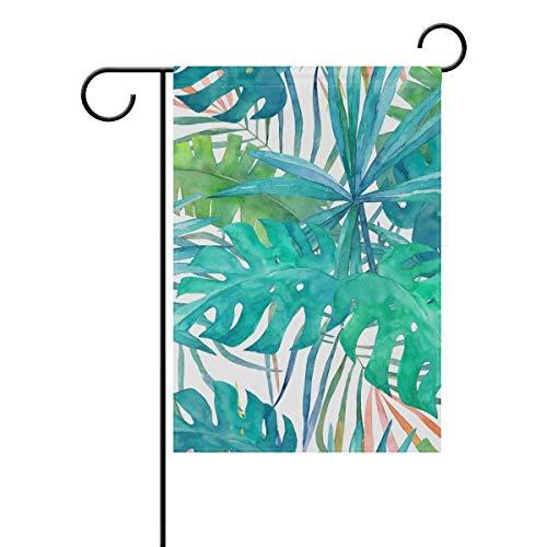 N/A Gartenflagge Pflanze Palmblatt Hof Banner einseitiger Druck 12 x 18 Zoll