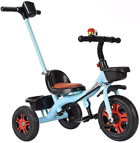 DYB Bicicleta para niños 2 en 1, Triciclo Ligero, Cochecito para niños, multifunción, Asiento cómodo con Campana, 3 Colores para niños (Color: Azul)