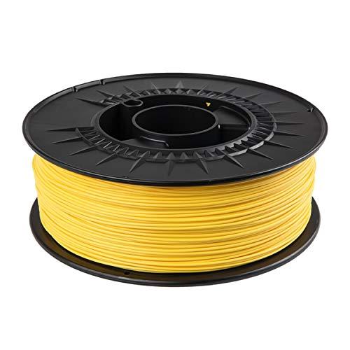 Filamento PLA 1,75 mm 1 kg per stampanti 3D in colori RAL (giallo zinco RAL 1018)