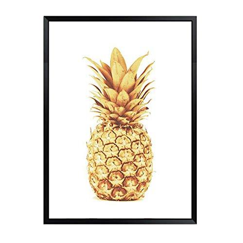 Modernen Leinwand Drucken Kunst Bild Kreative Wand Schlafzimmer Dekoration Gemälde Inkjet Obst Golden Ananas Fresken,NoFrame,30x40cm