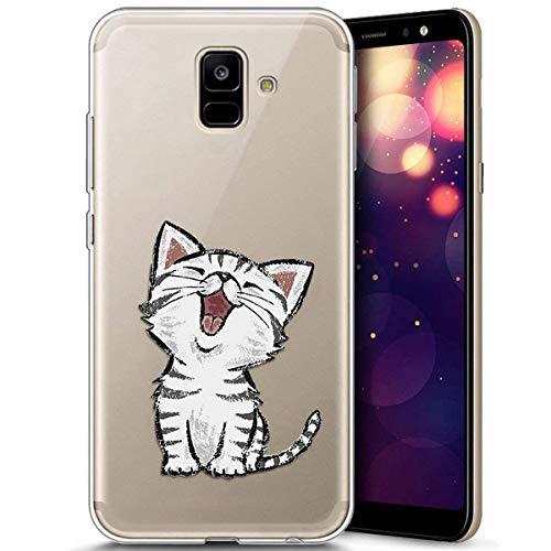 Handytasche Galaxy A6 2018, Galaxy A6 2018 Hülle Silikon, Kompatibel mit Galaxy A6 2018 Hülle Durchsichtig - Transparent Bumper Handyhülle Weiche Silikon Handyhülle Schutzhülle Galaxy A6 2018, Schön