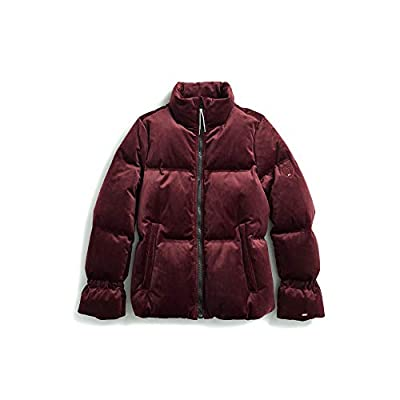 Tommy Hilfiger Women's Adaptive Puffer Jacket with Magnetic Zipper, Wine Tasting, Large from Tommy Hilfiger